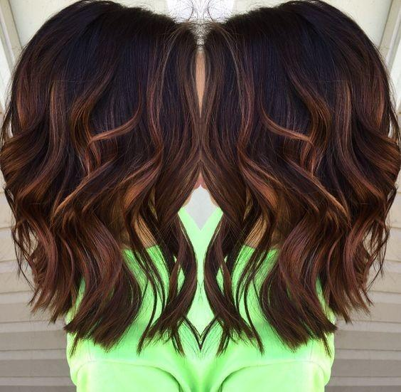 Brown Layered Medium Hairstyle