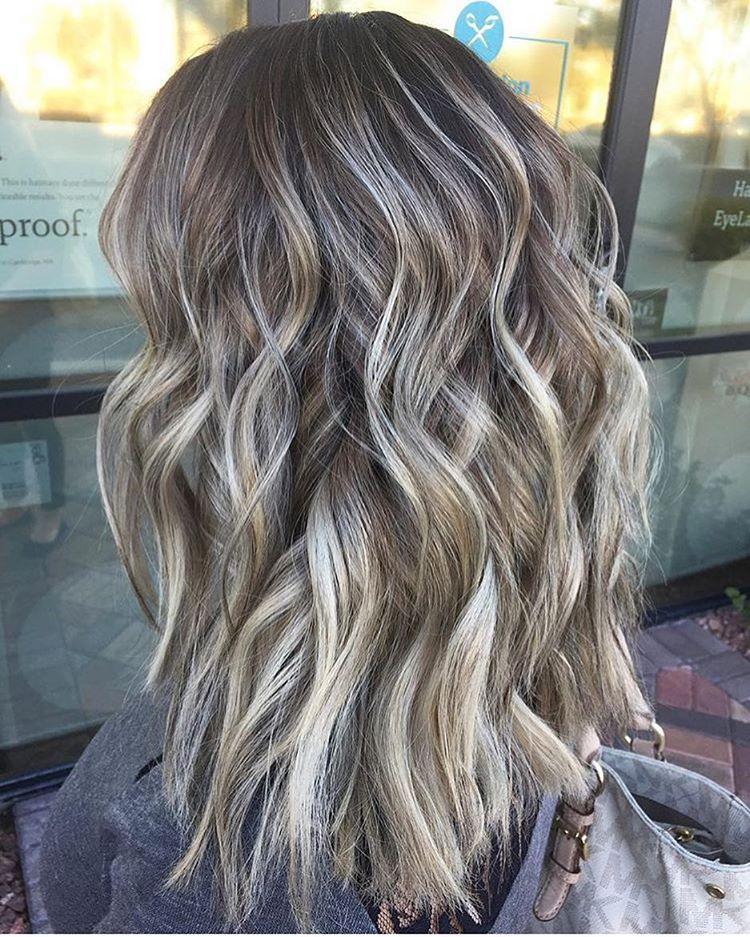 Medium to long bob hair