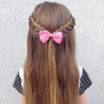 Micro Braided Half-Tie girls hairstyle